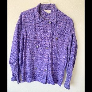 Vintage Christian Dior purple silk shirt
